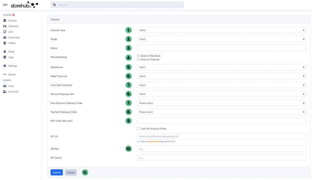 Adding Channel Info to Storehub - Client Resources