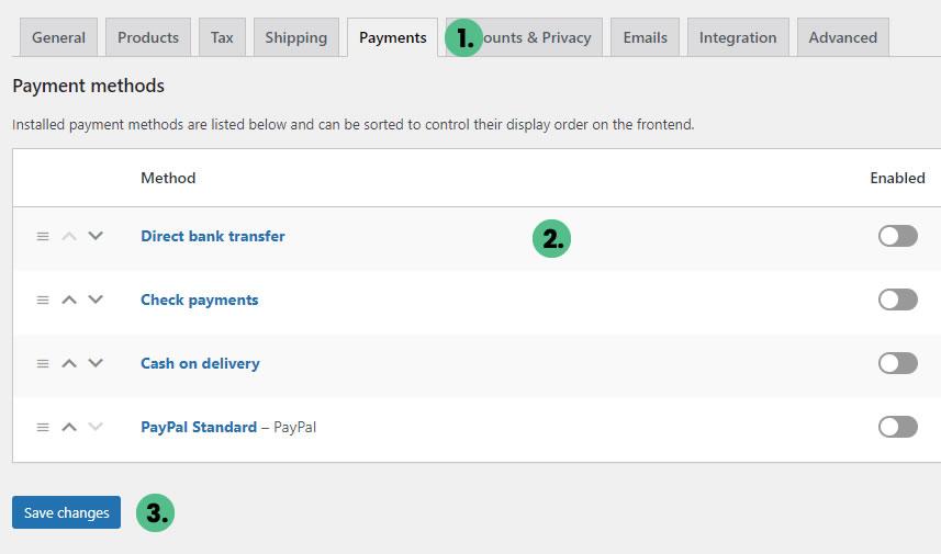 WooCommerce Payment Method Setup - Client Resources