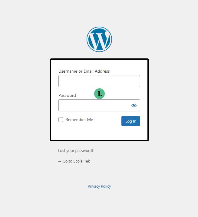WordPress Login - Client Resources